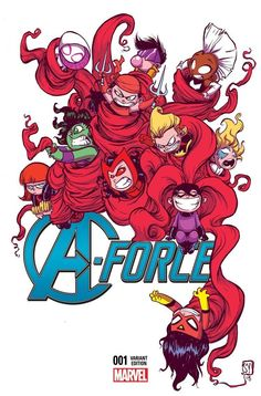 A-Force #1 variant cover by Skottie Young *