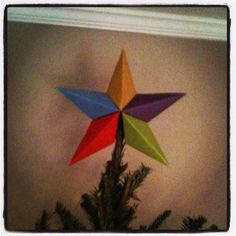 Paper star for Christmas tree topper