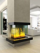 Modern Fireplace in Contemporary Living Room