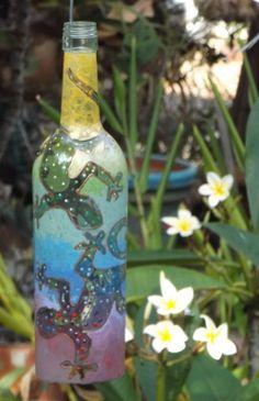 recycled 2014 bottle art