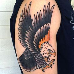 65 Eagle Tattoos ❖❖❖  #eagle #tattoos ❖❖❖ With a pointed beak, powerful claws and robust bearing, the eagle is the queen of the skies.  Its incredible hunting ability, excellent vision, intelligence and ability to lift majestic flights make it an emblematic bird with strong popular appeal.  It was so important throughout history that it was chosen as a symbol of the identity of the Roman, ...