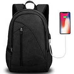New Unisex Laptop Backpack School & Travel, Tocode Fits Computer Durable Casual Anti Theft Backpack Travel Bag, USB Charging Port Headphone Jack, Waterproof Large Compartment Daypacks online shopping - fgofashion Best Laptop Backpack, Waterproof Laptop Backpack, Computer Backpack, Backpack Travel Bag, Hiking Backpack, Laptop Bags, Macbook, Anti Theft Backpack, Usb