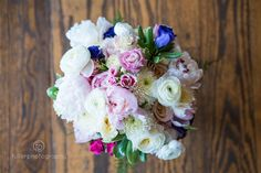 Claire's boho inspired bouquet. Fuller Photography