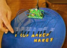 Cool! MaKey MaKey is an invention kit for the 21st century. Turn everyday objects into touchpads and combine them with the internet. It's a simple Invention Kit for Beginners and Experts doing art, engineering, and everything inbetween: