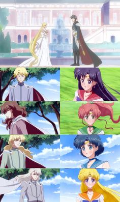 I love how the first sailor moon anime just took this whole aspect out of sailor moon. The sailor scouts didn't have the prince's guards to fall in love with. Sailor Moon Sailor Stars, Sailor Moon Crystal, Sailor Moon Manga, Sailor Jupiter, Sailor Venus, Cristal Sailor Moon, Sailor Moon Quotes, Arte Sailor Moon, Sailor Moon Fan Art
