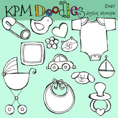 COMBO Baby Girl digital clipart clip art and stamps. $5.60, via Etsy.