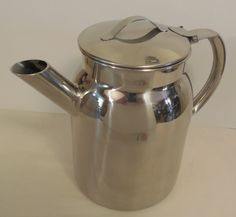 """Vollrath Stainless Pitcher 8"""" 2 Quart, Newer Vintage Stainless Batter Pitcher, Shiny Steel Batter Can Pitcher, Cool Hollow Handle - pinned by pin4etsy.com"""