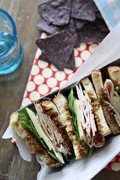 Turkey Sandwiches with Jarlsberg and Sun Dried Tomato Pesto [Tailgating Giveaway with the Recipe]