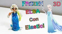 """Tutorial Elsa Frozen 3D Con Elastici Rainbow Loom """"Queen Elsa Charm/Prin..."""