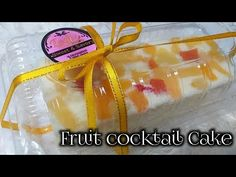 Fruit cocktail Cake ( na puhunan👌 malaki ang kitaan Fruit Cocktail Cake, Cocktails, Drinks, Pastries, Banana Bread, Breads, Deserts, Food And Drink, Cakes