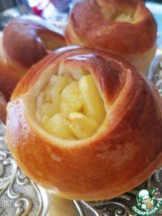 Булочки с яблочной начинкой - кулинарный рецепт
