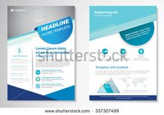 Vector Brochure Flyer design Layout template, size Front page and back page, infographics. Easy to use and edit. Flyer Design, Layout Design, Layout Template, Templates, Textured Background, Royalty Free Stock Photos, Image, Infographics, A4