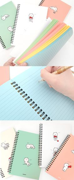 The eye-catching colored lined note pages and the charming lazy cat illustrations make this notebook irresistible!