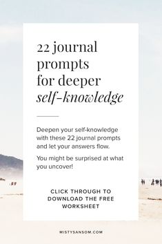 This personal growth worksheet is an exercise in self-discovery journaling. The 22 journal prompts will help you explore and expand your sense of personal growth and personal development. The prompts Self Development Books, Development Quotes, Personal Development, Finding Purpose, Life Purpose, Daily Journal Prompts, Purpose Quotes, Intuition Quotes, Morning Pages