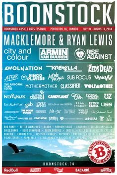 #Boonstock 2014 #Lineup BC, Canada http://boonstock.ca/ I need to go to this!!!!!