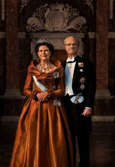 Kings of Sweden Carl Gustav and Silvia's 40th Jubilee official picture, taken on 11 June 2013