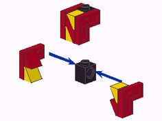 https://flic.kr/p/914qBC | letter N | One way of constructing a letter N. If the stud of the 1x1 technic brick doesn't line up with whatever sits on top or the bottom of this, the letter will have to be held in place from the side. I can't claim that this is either my idea or particularly revolutionary, but I made this picture as an illustration for a discussion I was having on Eurobricks.