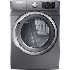 The #Samsung DV42H5200GP 7.5 Cu. Ft. Front-Load Gas Steam Dryer with Sensor Dry, in platinum, features steam drying technology that works to refresh clothing and...