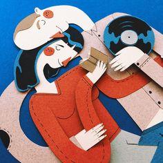 Top 10 incríveis trabalhos com papel   Design Culture - artista espanhol Jotaká -