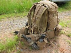HPG C20M packbag, Shoulder Harness, Prairie Belt & Tarahumara with HSGI Alipad on ALICE
