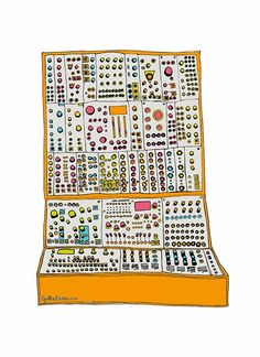 Modular Synth (A3) via SpilledAase.com. Click on the image to see more!