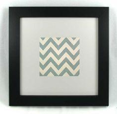 Easy decorating - framed fabric or framed scrapbook paper