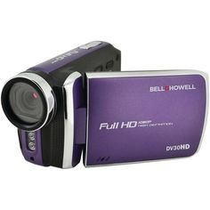BELL+HOWELL DV30HD-P 20.0 Megapixel 1080p DV30HD Fun-Flix Slim Camcorder (Purple)