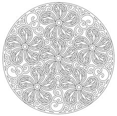 Mandala 652, Creative Haven Paisley Mandalas Coloring Book, Dover Publications