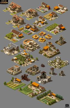 Buildings for the Age of Sparta game i did. Concepts by Andrey Tsokov, Nevena Nikolcheva, Georgi Murdjev +some by meself.