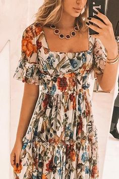 Fashion Sexy Short Sleeves Floral Print Off Shoulder Maxi Dress Plus Size Maxi Dresses, Cute Dresses, Casual Dresses, Short Dresses, Fashion Dresses, Summer Dresses, Awesome Dresses, Summer Maxi, Mini Dresses