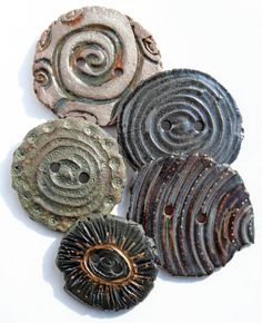 Handmade Ceramic Buttons -- Lisa Peters (Etsy)
