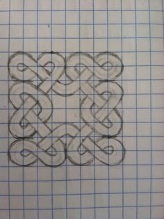 how to draw celtic knots: