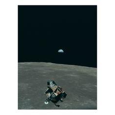 Vintage Apollo 11 Moon Mission Eagle's Ascent Postcard
