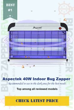 #Aspectek 40W Electronic Bug Zapper  *POWERFUL INSECT CONTROL *EFFECTIVE & LARGE AREA COVERAGE *CHEMICAL & ODOR FREE *SAFE AND EASY-TO-USE *DOUBLE SIZE FORMAT