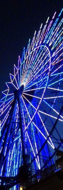 ✯ Black, White & Blue ✯ Ferris wheel at night | Carnival ride