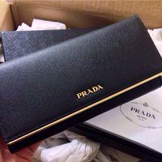 f482bed6bdc4 chic black Prada clutch Prada Clutch, Prada Purses, Prada Wallet, Prada  Handbags,