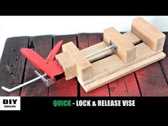 Today I make a wooden drill press vise. I made this drill vise with quick locking and releasing mechanism so, that locking and releasing the. Homemade Tools, Diy Tools, Homemade Drill Press, Hand Tools, Woodworking Jigs, Woodworking Projects, Youtube Woodworking, Woodworking Techniques, Easy Woodworking Projects