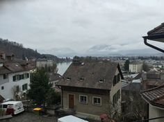 Fog rolling in over the city. Switzerland, Rolls, City, Buns, Bread Rolls, Cities