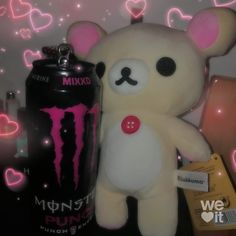Find images and videos about grunge, teddy bear and rilakkuma on We Heart It - the app to get lost in what you love. Gothic Aesthetic, Aesthetic Grunge, Pink Aesthetic, Cybergoth, Creepy Cute, Monster Energy, Rilakkuma, Soft Grunge, Aesthetic Pictures