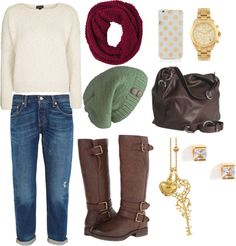 Winter by emilygsmith1996 on Polyvore featuring Topshop, Levi's, Naturalizer, Osgoode Marley, Michael Kors, Snö Of Sweden, prAna and Kate Spade