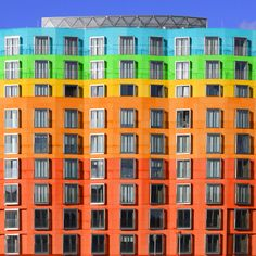 DZ Bank by Frank Gehry adapted in bright colours by a young German student German Architecture, Architecture Student, Contemporary Architecture, Dz Bank Berlin, Frank Gehry, Photo Essay, House Colors, Color Inspiration, Germany