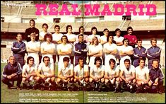 Soccer Nostalgia: Old Team Photographs-Part Back Row, Front Row, Real Madrid History, Santiago Bernabeu, Miguel Angel, Football Team, The Row, Nostalgia, Soccer