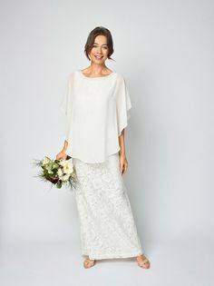 Choosing a wedding dress as an older bride can be a tricky task; you may think you need to go for something sensible or plain, but this is of course not the case Strappy Wedding Dress, Boat Neck Wedding Dress, Pink Wedding Dresses, Stunning Wedding Dresses, Wedding Dress Sleeves, Perfect Wedding Dress, Mature Bride Dresses, Minimal Chic, Marie