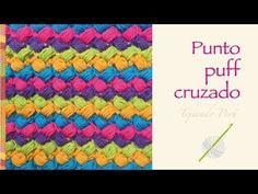 Crochet divertido paso a paso: punto puff cruzado de colores! - YouTube