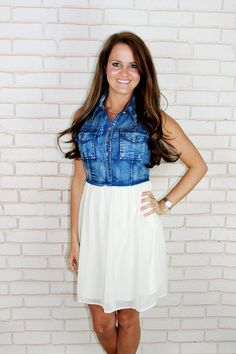 jean dress love | Fashion finesse | Pinterest | Jean dresses, Love ...