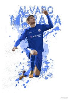 Alvaro Morata Art - Chelsea FC by Armaan  Design available on T shirts and more! #morata #cfc #art