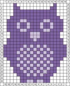 Owl knit/crochet chart
