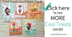 Cool Treats Ice Cream Cone and Sundae cards by Patty Bennett featuring Stampin' Up! Occasions catalog products