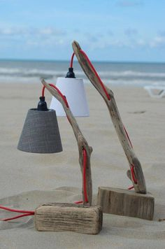 Driftwood Lamp...note base is a piece of flotsam