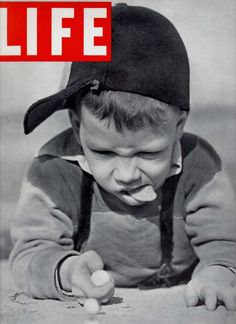 1937 LIFE Magazine Playing Marbles Cover Muncie Indiana